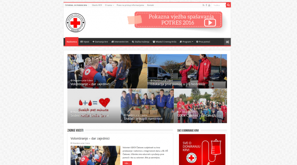 red cross website, čakovec infenso