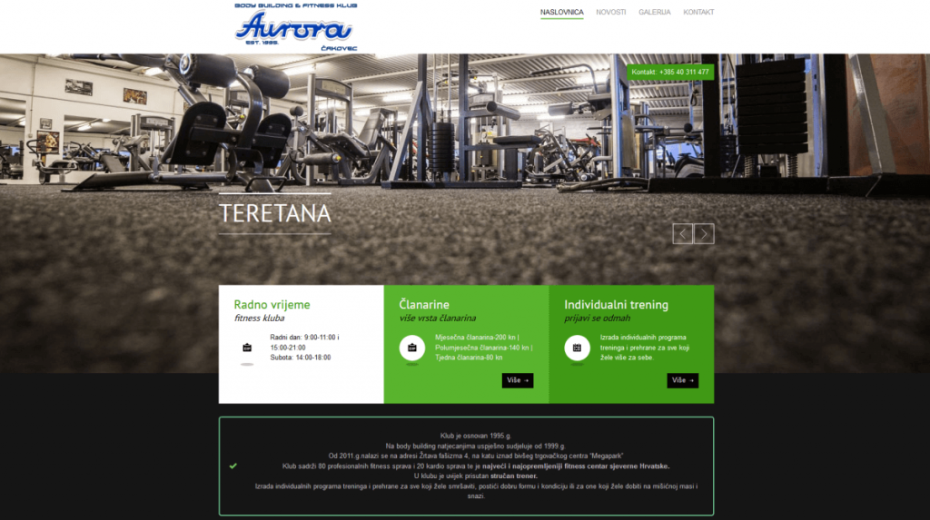 website aurora infenso