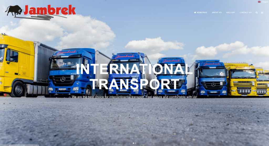 website of jambrek transporti